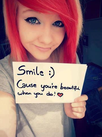 smile because you are perfect