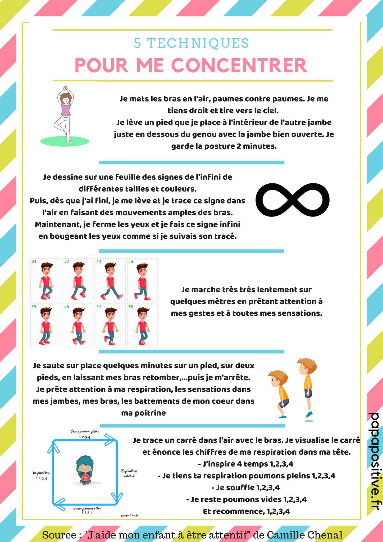 5 techniques pour développer la concentration des enfants