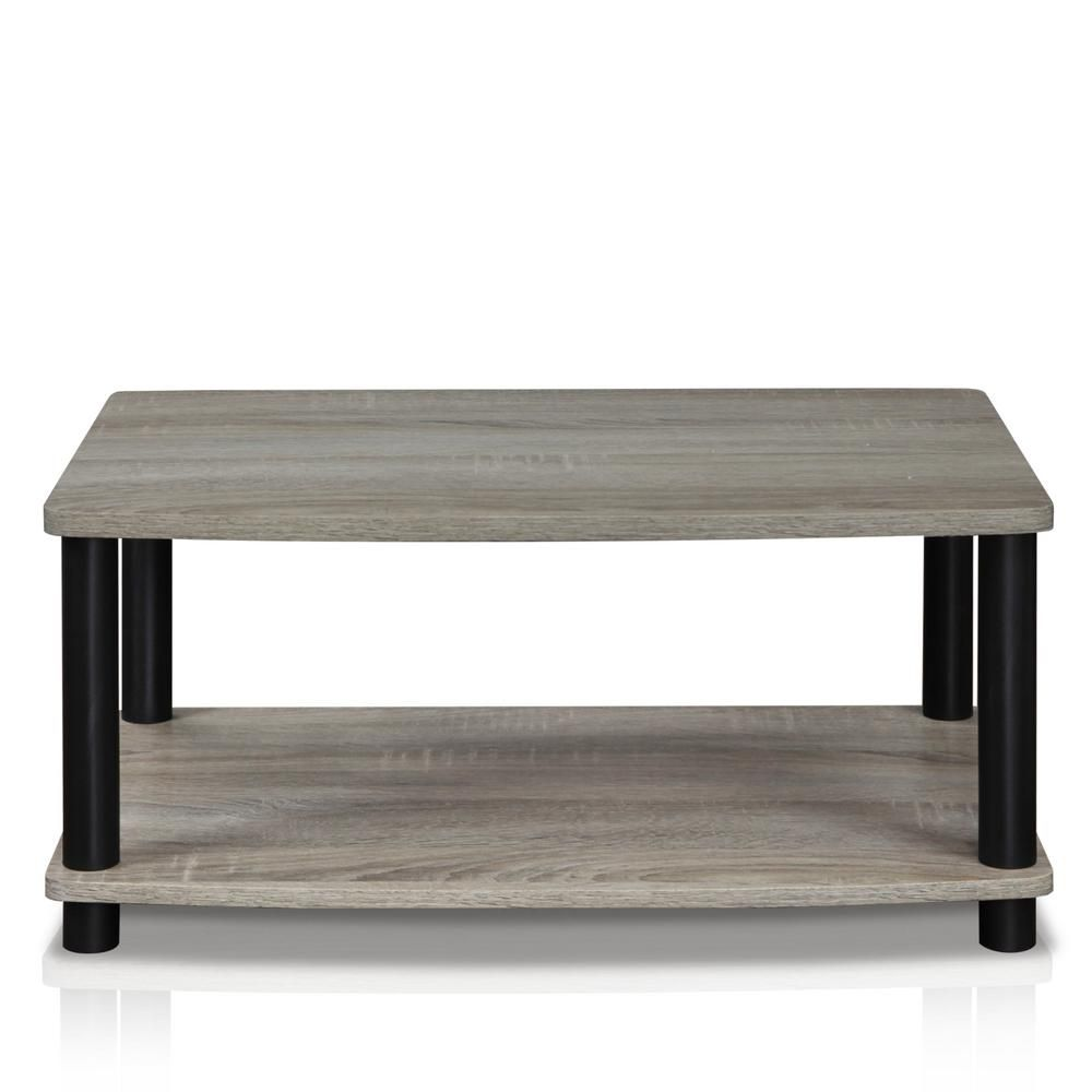 Furinno Turn N Tube French Oak Grey Elevated Tv Stand 13191gyw Bk Storage Furniture Living Room Coffee Table Wood French Oak