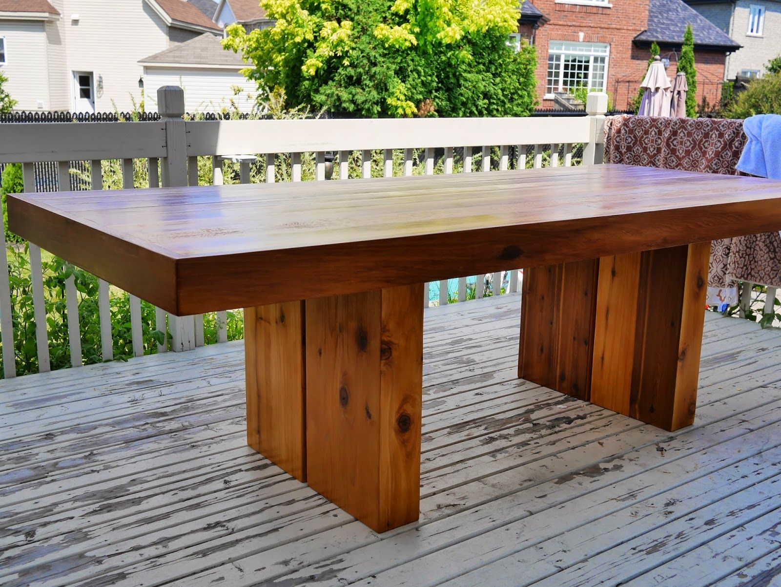 Table De Patio En C 232 Dre Woodworking Meuble De Patio