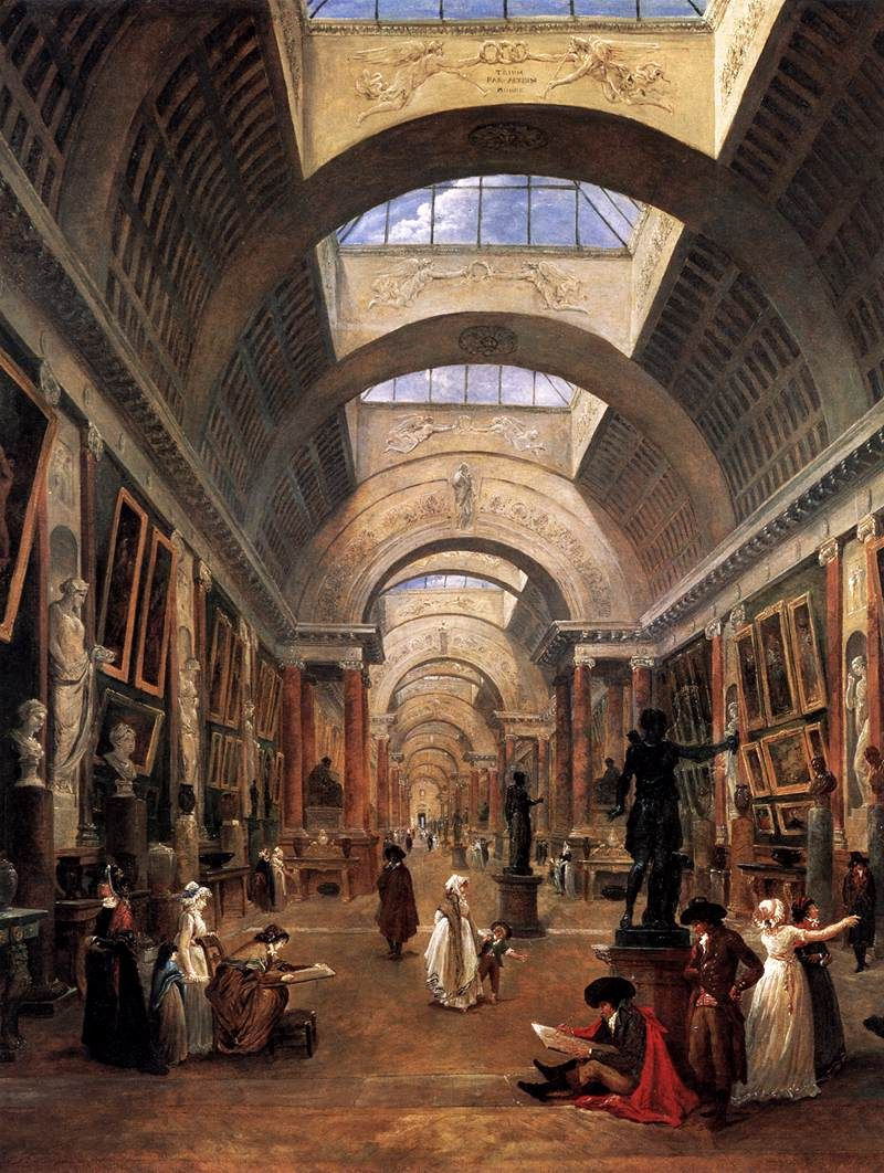 Hubert Robert - Grand Louvre Art