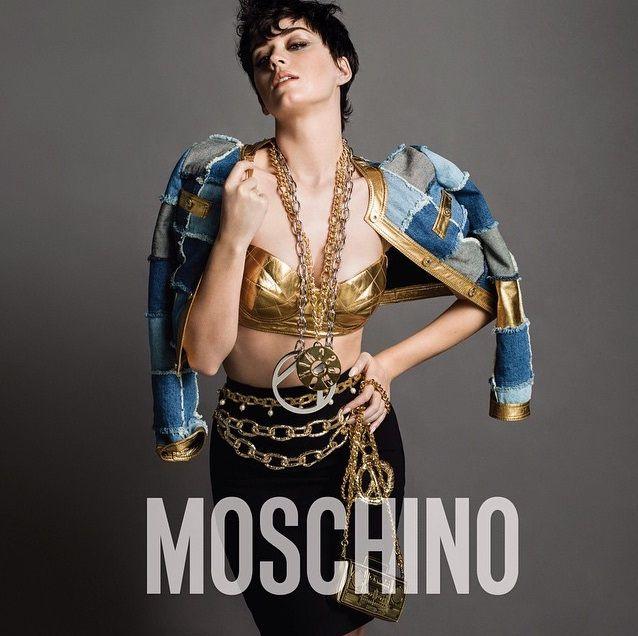 Katy Perry estrela catálogo da nova coleção da grife Moschino