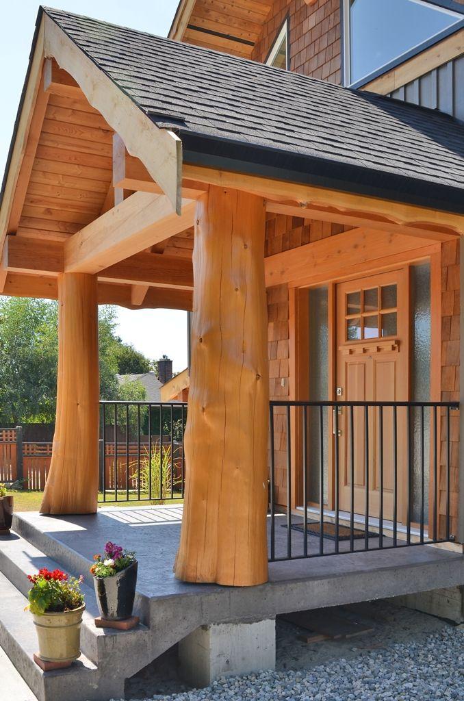 Compact Hybrid Timber Frame Home Design Photos Timber Home Living: House Entrance, Timber Framing, House Exterior