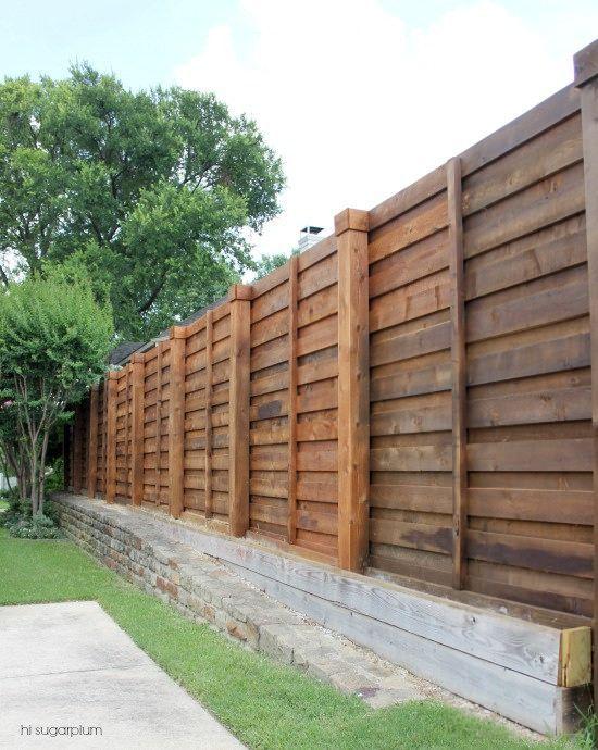 {The Backyard} A New Horizontal Fence | Hi Sugarplum! | Bloglovinu0027