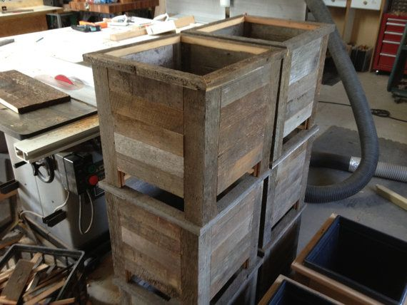 Rustic Barn Wood Planter Box By Dirkedmunddesigns On Etsy 400 x 300