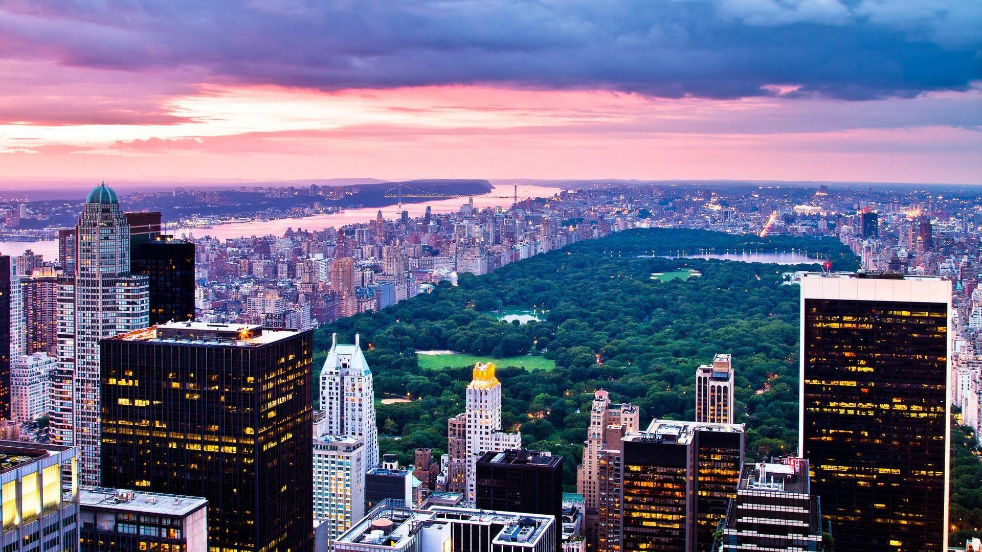 Обои manhattan, центральный парк, new york city. Города foto 17