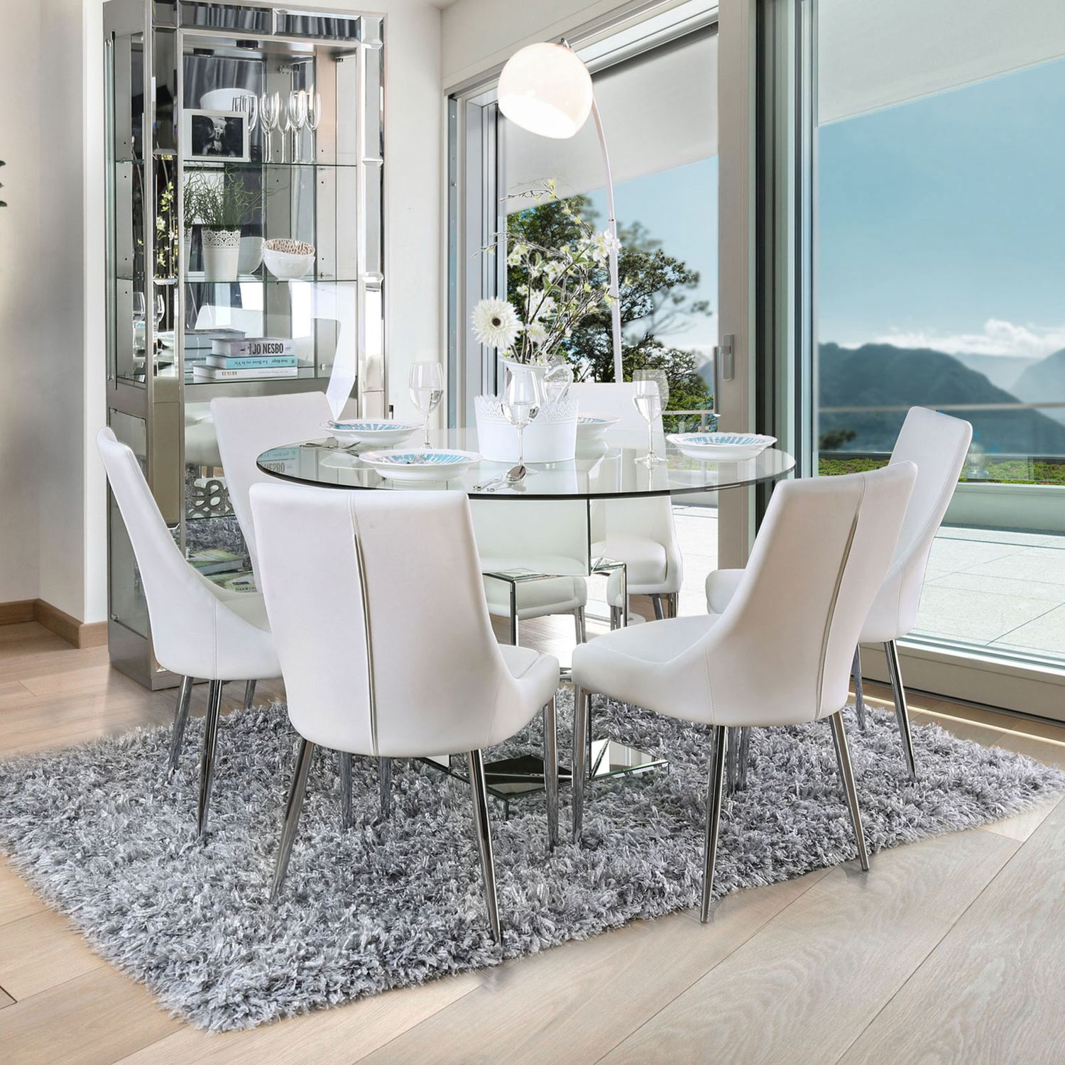 Izzy White Table CM9RT Furniture Of America Dining Room Sets ...