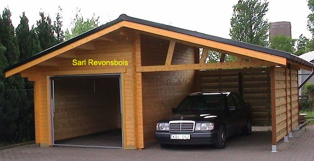 garage bois et abris voiture vendu en kits maison bois pinterest garage bois abri voiture. Black Bedroom Furniture Sets. Home Design Ideas