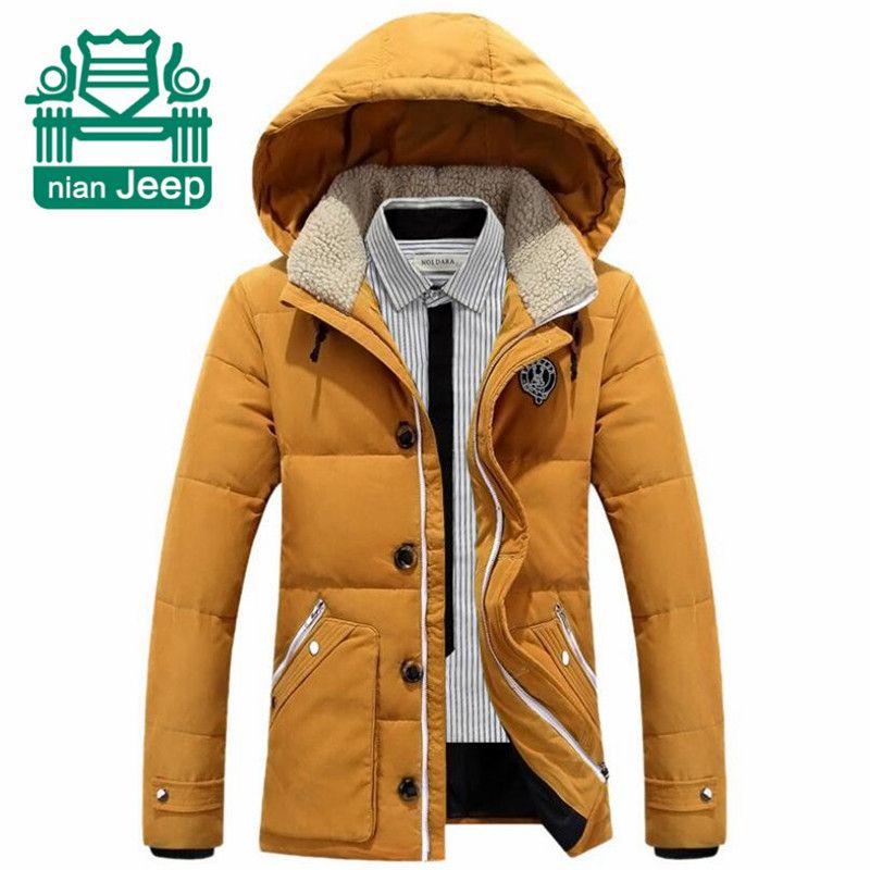 NIAN AFS JEEP Original Brand Detachable Hooded Mens Down Parkas ...