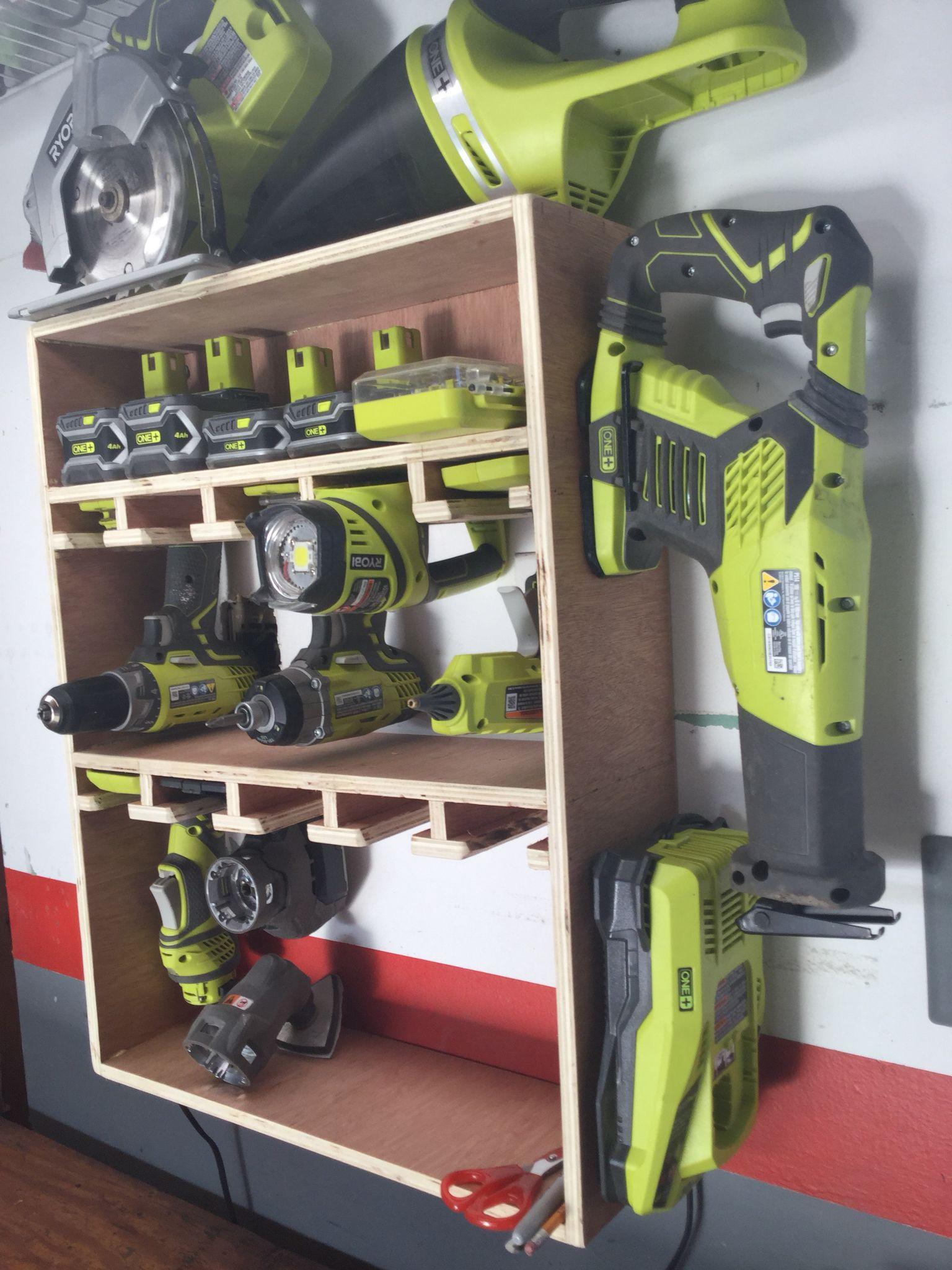Ryobi Tool Rack Tool Storage Diy Ryobi Tools Tool Storage