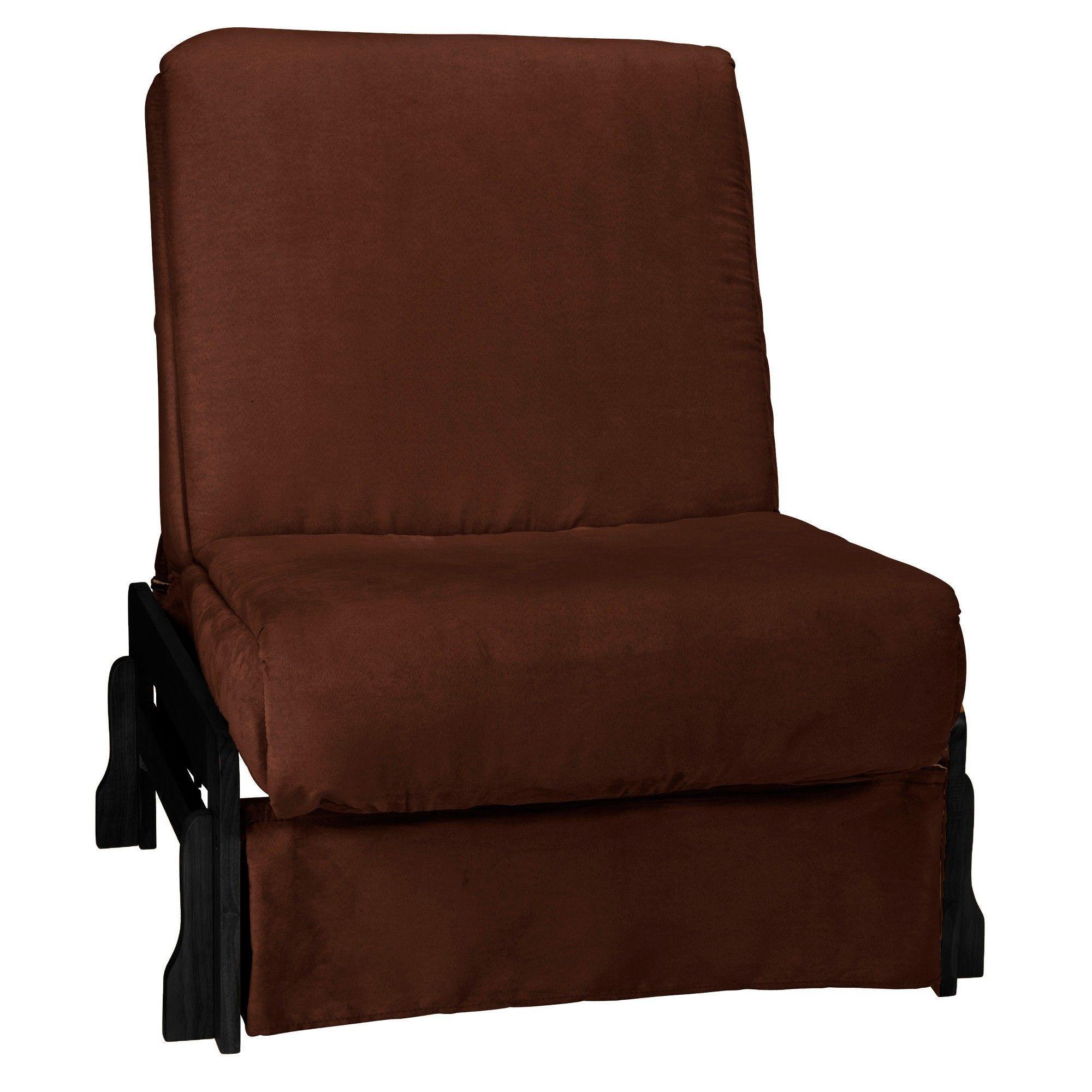 Low Arm Perfect Futon Sofa Sleeper Black Wood Finish Chocolate Brown Upholstery Chair Size Sit N Sleep Espresso Upholsteryforbeginners