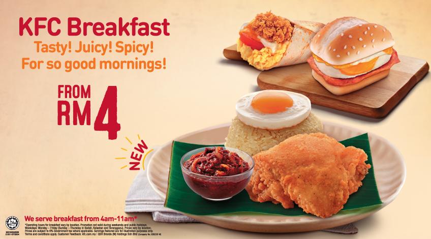 Menu Weekday Breakfast Menu Weekday Breakfast Kfc Breakfast