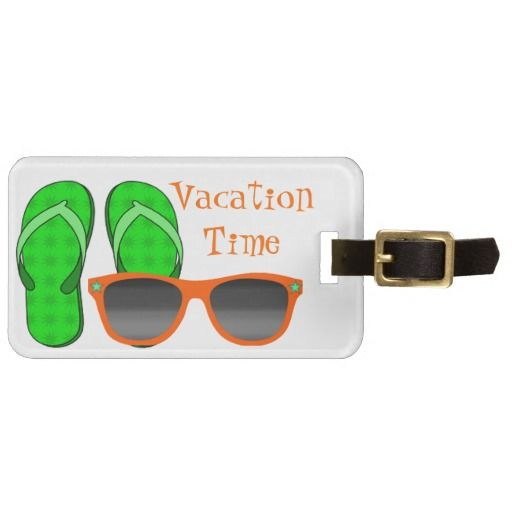 Sunglasses  Flip Flops Luggage Tag