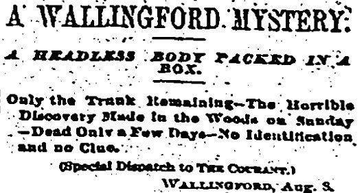 The Mystery of the Wallingford Shoebox Murder | New England