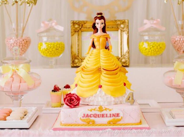 Princess Belle Birthday Cake from a Princess Belle Inspired Beauty