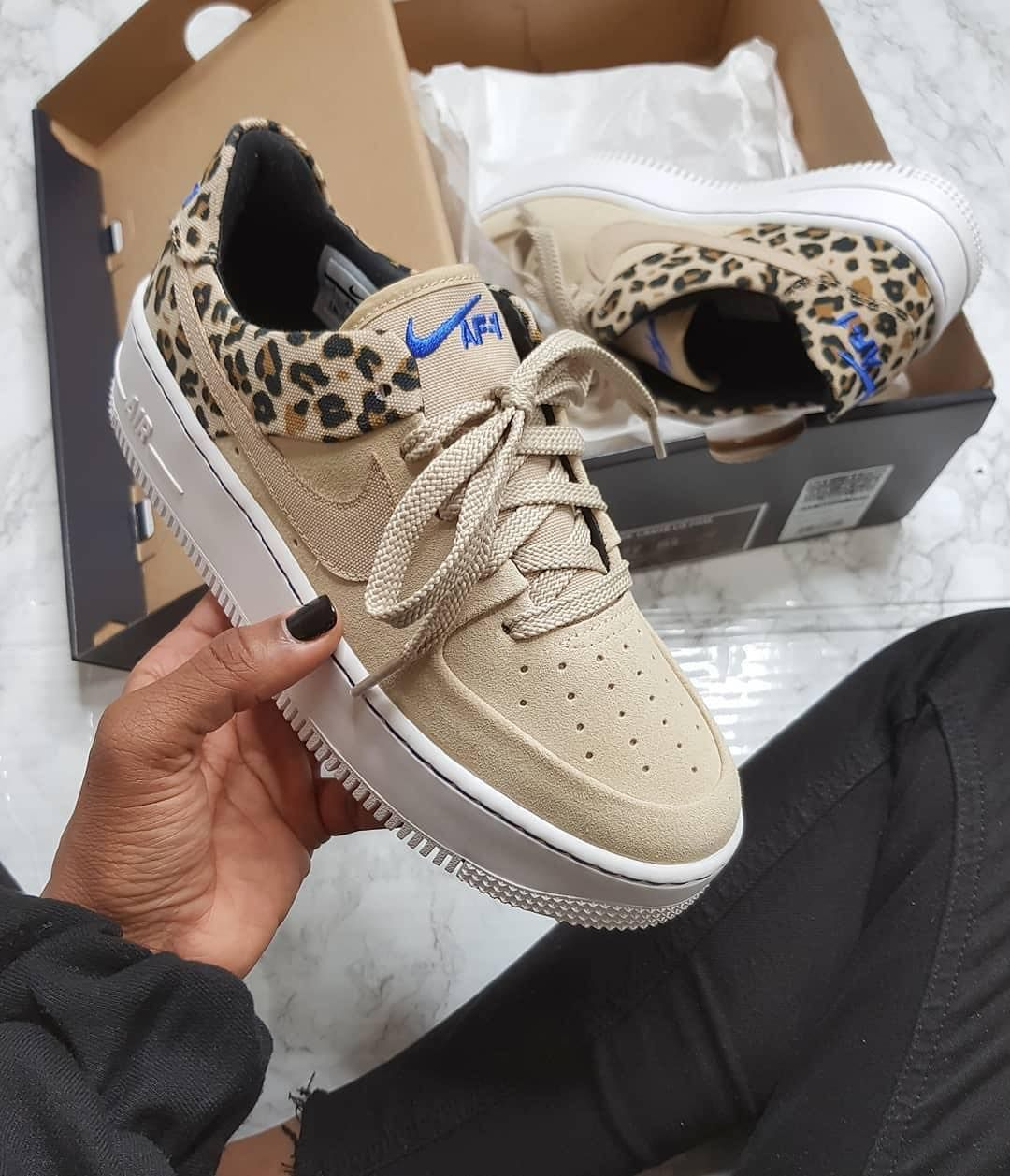 "Nike Air Force 1 Sage ""Leopard"" organic link to shop one"