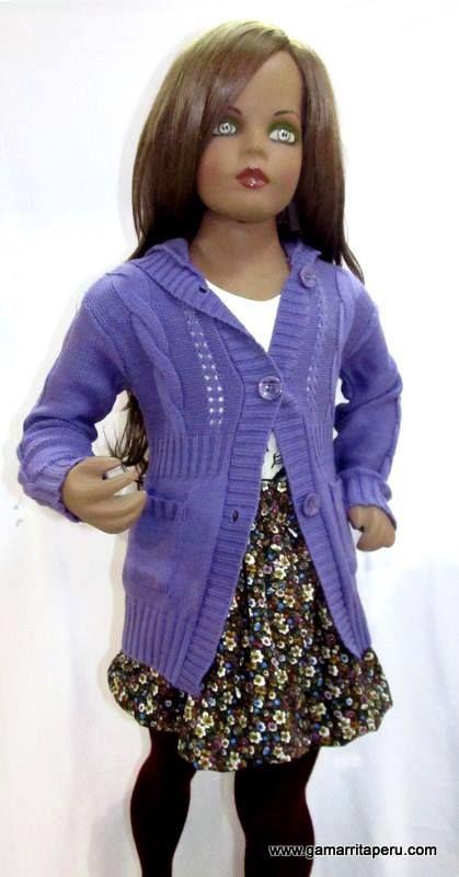 Maya Kids - Chompa larga de lana - Gamarrita Perú S/.28.00.