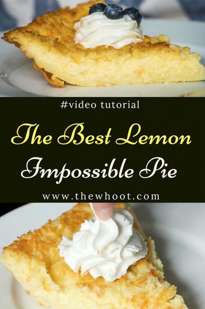 Lemon Impossible Pie Recipe Easy Video Instructions #easypierecipes
