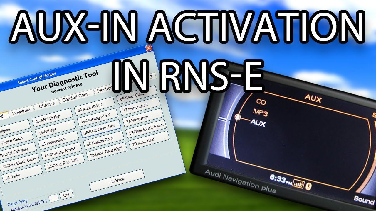 How to enable AUX-IN in #Audi RNS-E (A3 A4 A6 TT R8 Exeo