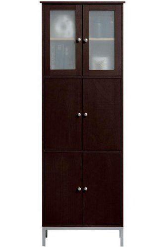 Amanda Double Tall Storage Cabinet 6 Door Dark Brown Home Decorators Collection Http Www Amazon Tall Cabinet Storage Brown Bathroom Furniture Tall Cabinet