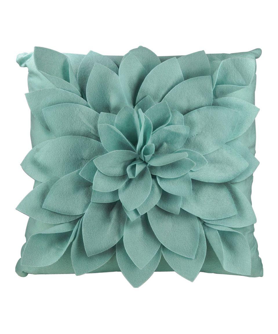 Look at this #zulilyfind! Teal Petals Square Throw Pillow by GANZ #zulilyfinds