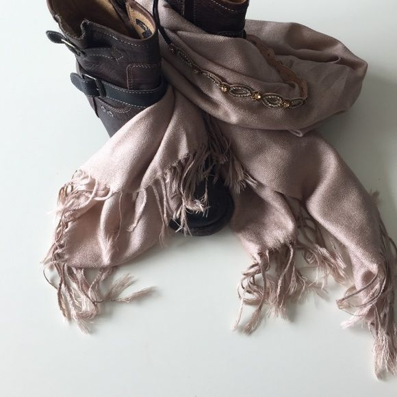 Soft tan scarf NWOT Extra soft, light weight tan scarf. Never worn. Headband pictured also for sale :) Bundle & save! Accessories Scarves & Wraps