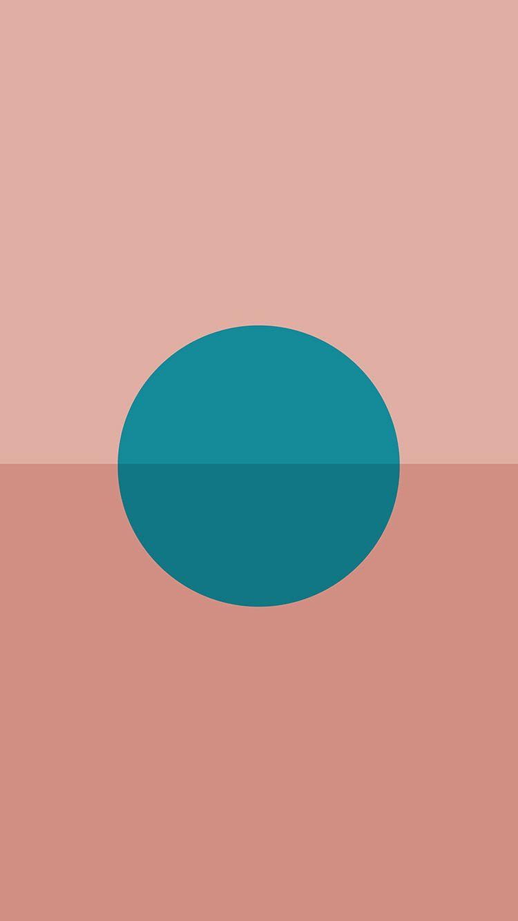 Minimal Tycho Art Sun Pink Blue Green Illustration Wallpaper