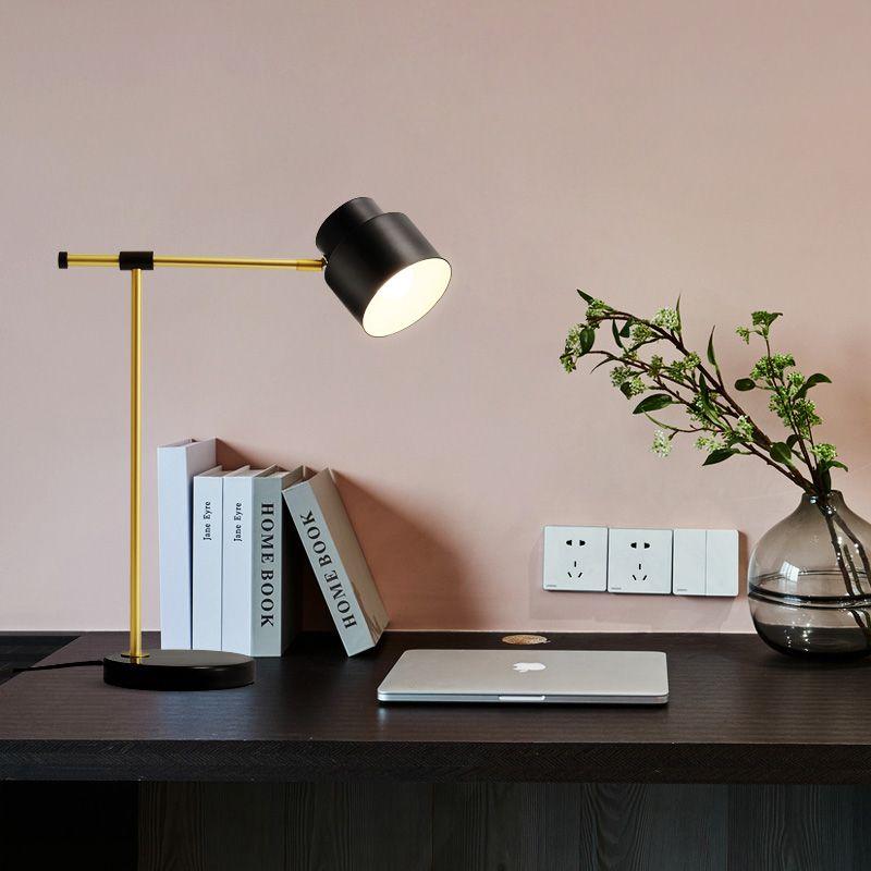 Modern Minimalist Black Table Lamp Desk Reading Lamp Study