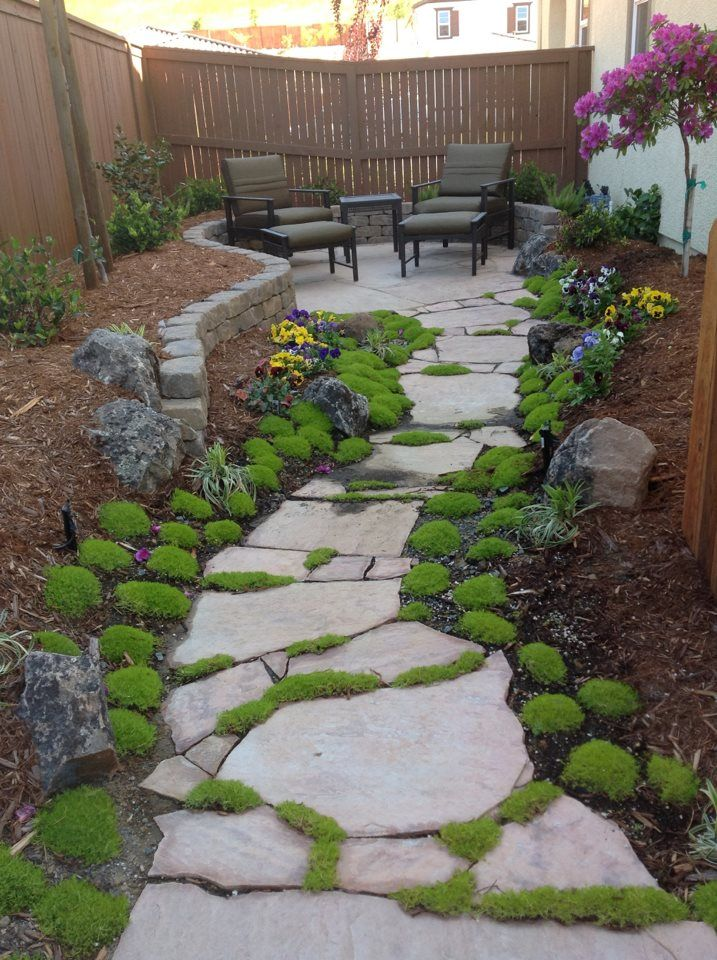 Perfect use of narrow side yard space! @Jeff Winger | Side ... on Narrow Side Yard Landscaping id=64560