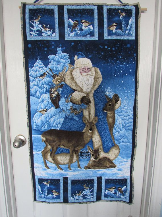 FATHER CHRISTMAS Quilted Wall Hanging