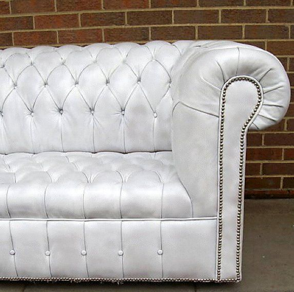 White Leather Chesterfield Sofa Ebay Finds With Images White Leather Chesterfield Sofa Ebay Finds Timeless Furniture