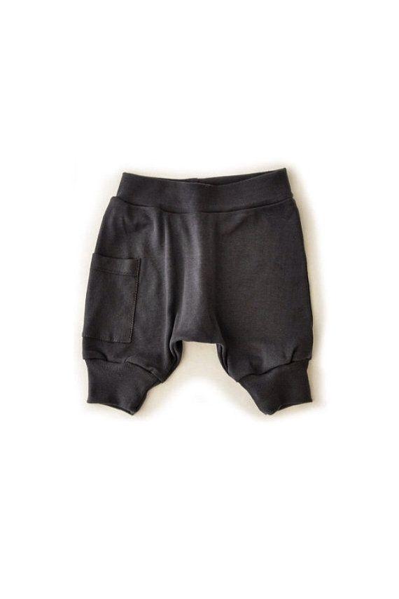 Free Shipping Worldwide Baby Boy Harem Shorts Coal Gray