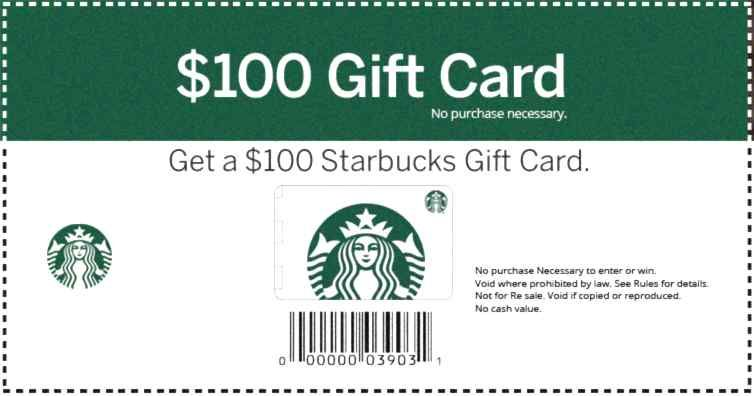 Get your card one per person in 2020 starbucks gift