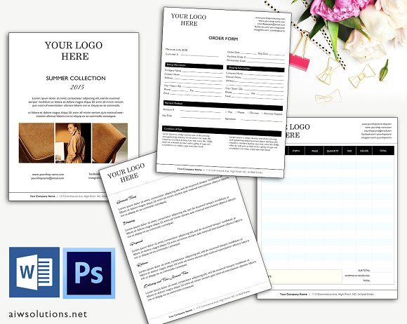 Price Sheet Order Form Template Creativework  Stationery
