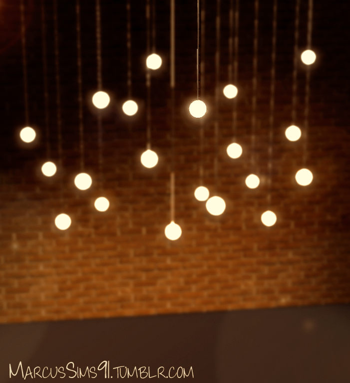 Ceiling Lamp The Sims 4: MS91 Designs - HiLo Pendant Lights #Sims3