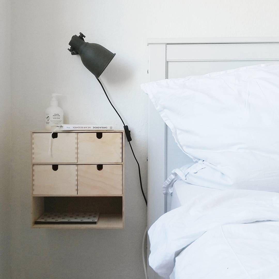 Wall Mounted Nightstand Diy: Wall-mounted Ikea 'Moppe' Drawers @krawzova