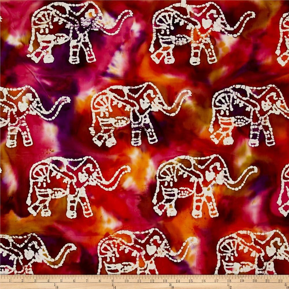 Indian Batik Elephant Dark Multi