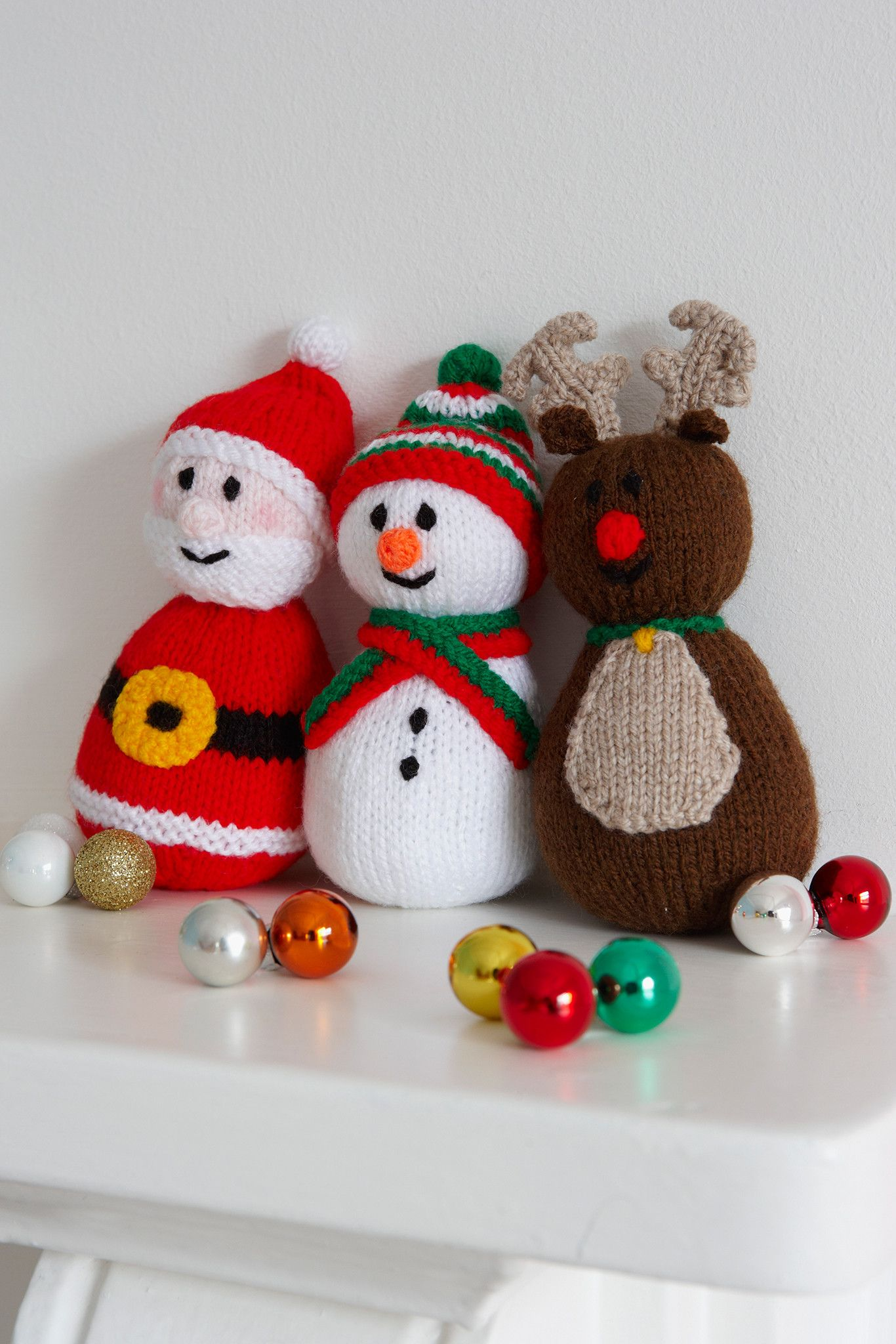 Christmas Toys Knitting Patterns | Snowman, Knit patterns and Santa