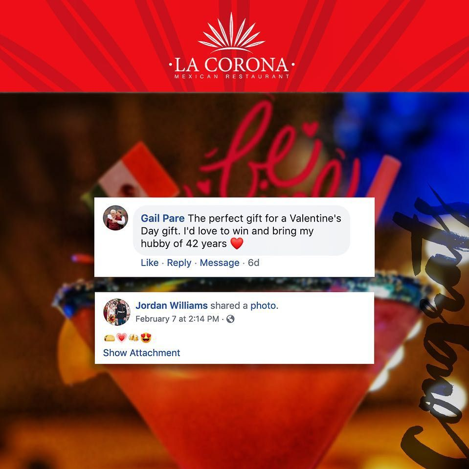 Love Is In The Air Happy Valentine S Day So Much Love From This Date Night Out At La Corona So Come Happy Valentines Day Mexican Restaurant Happy Valentine