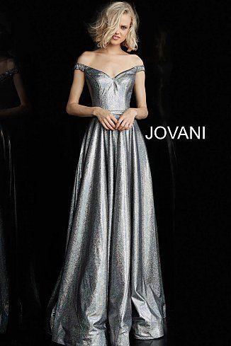 dcb1a0f34797d Multi Metallic Off the Shoulder Prom Dress 66285 in 2019 | Jovani ...