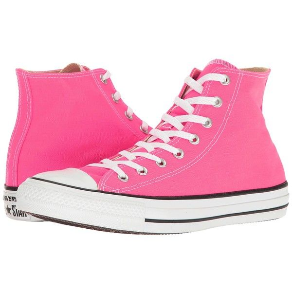 949ffcbec001 Converse Chuck Taylor All Star Seasonal Color Hi (Pink Pow) Lace up...  ( 60) ❤ liked on Polyvore featuring shoes