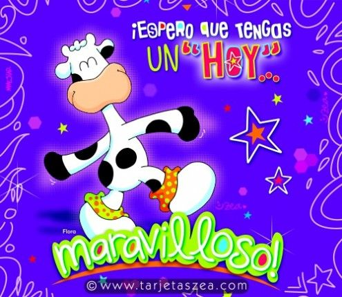 Vaca Flora Caminando feliz © ZEA www.tarjetaszea.com ...