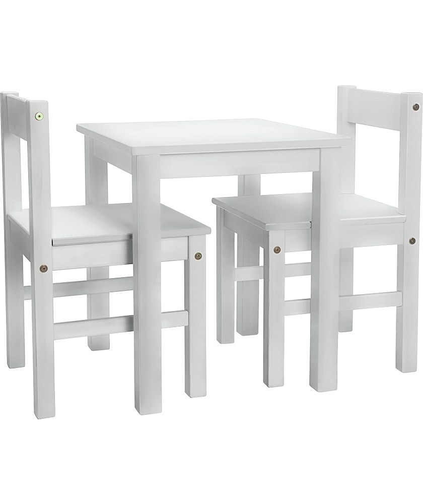 Argos White Dining Table And 6 Chairs: Home Scandinavia White Table & 2 Chairs