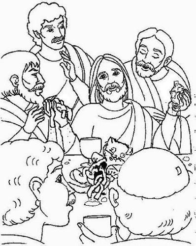 Last Supper Of Jesus Coloring Page From Holy Week In Jerusalem Category Select 25105 Printable Crafts Cartoons Nature Animals Bible And