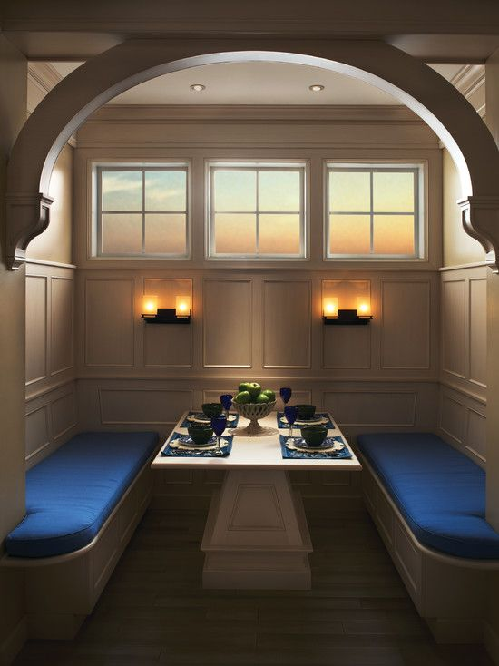 Kitchen #booth Design In Its Own Romantic Panelled Hideaway Impressive Kitchen Booth Designs Design Inspiration