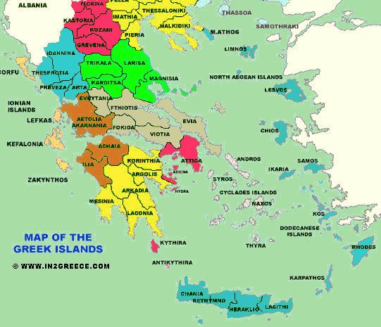 Greece And Greek Islands Map map of the islands Greece | Travel Greece | Greek islands map