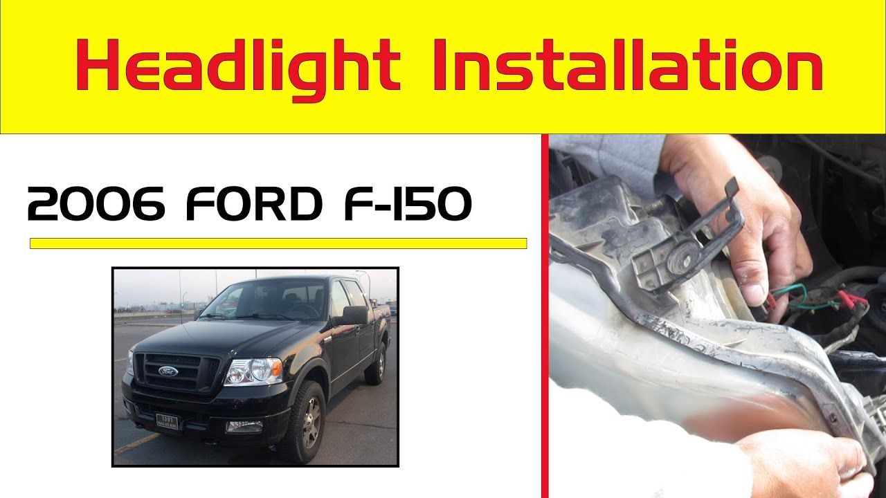 Replace Remove Change 2004 14 Ford F150 Headlights H13