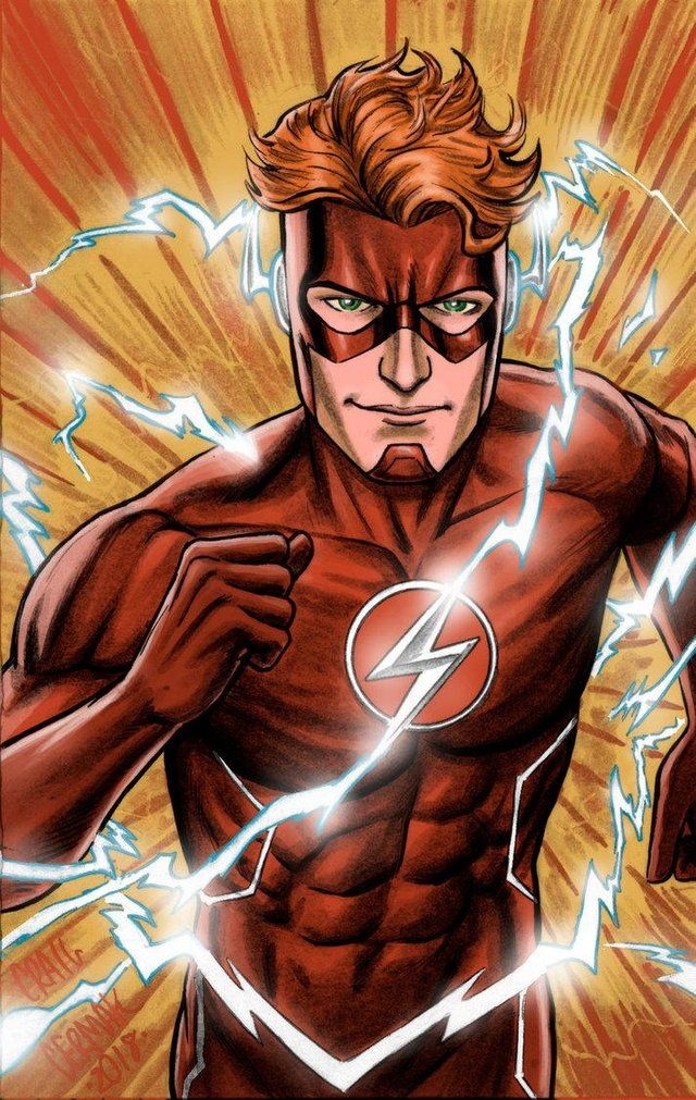 """""""Wally West, The Flash"""" by Craig Cermak : DCcomics   Wally ..."""