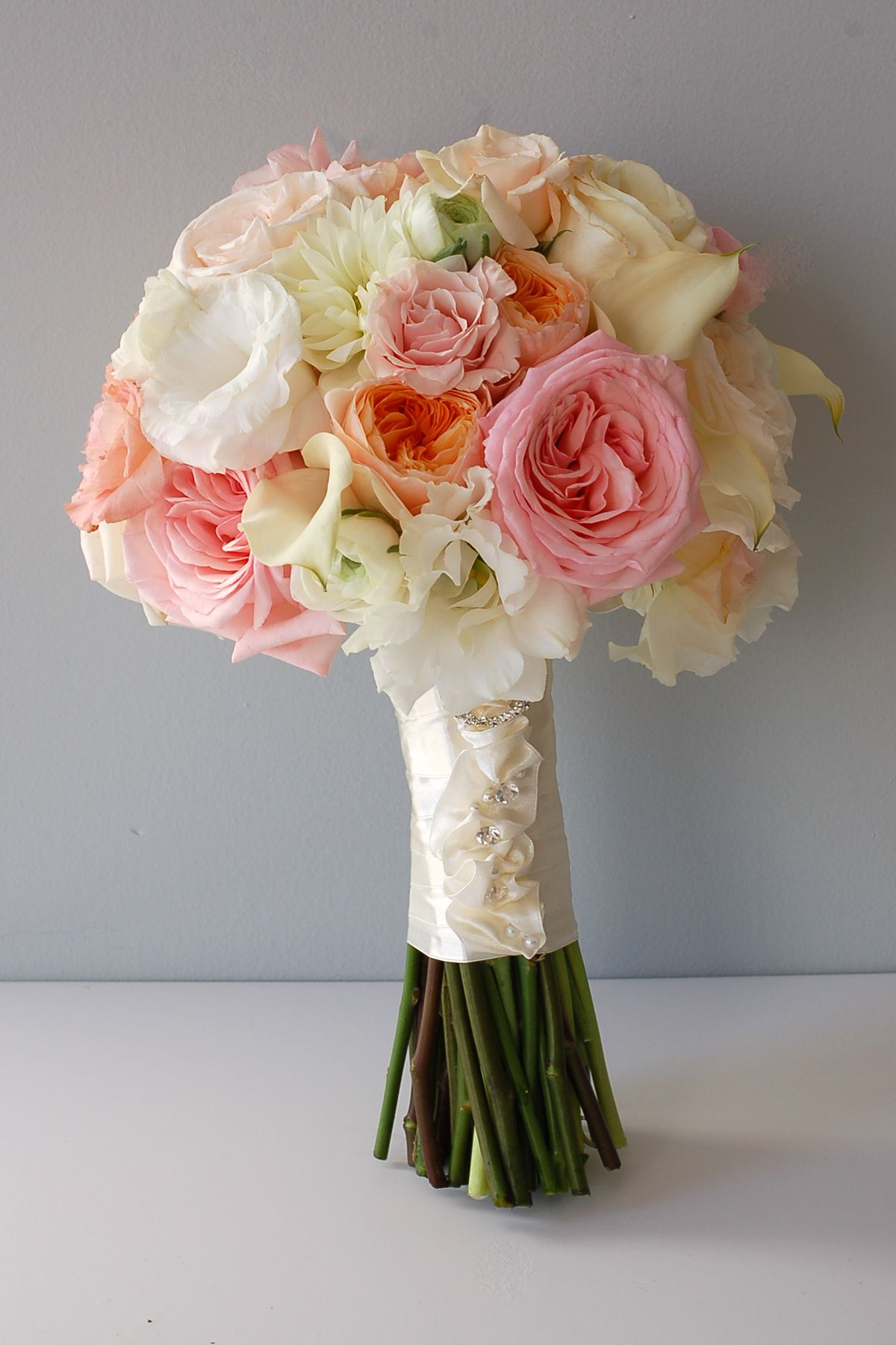 Rose Bridal Bouquets | Soft Textural Bouquet Featuring Garden Roses  Designed By Kio .