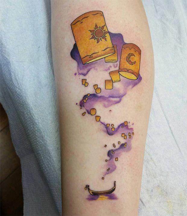 Tangled Lantern Tattoo Rapunzel Tattoo Disney Tangled Tattoo Tangled Tattoo